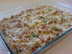Receita de Arroz de forno com atum e legumes - Tudo Gostoso