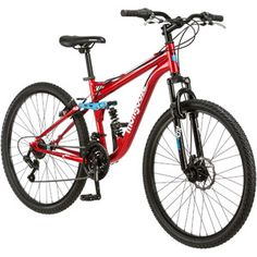 "Mongoose Men's 27.5"" Mongoose Ledge 2.5 Full Suspension Mountain Bike Cheap Bikes, Full Suspension Mountain Bike, Mongoose, Mountain Biking, Bicycle, Vehicles, Walmart, Cyber Monday, Black Friday"