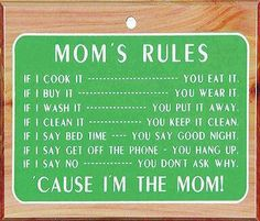 Mother knows best saying