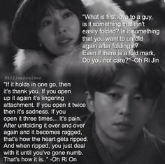 Kill Me Heal Me. Ri On is so poetic *sigh* my favorite part of the series was this saying