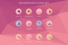 Set of infographics, illustration by VectorMarket on Creative Market