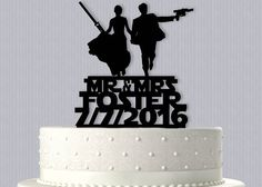 Epic Star Wars inspired Cake Topper by SilhouetteSensations