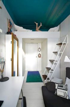If you are looking for Small Fisrt Apartment Bedroom Decorating Ideas, You come to the right place. Here are the Small Fisrt Apartment Bedro. Small Apartment Bedrooms, Apartment Bedroom Decor, Tiny Apartments, Bedroom Loft, Small Rooms, Small Spaces, Bedroom Small, Loft Beds, Small Small