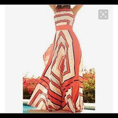 """Host Pick! Geo Print Maxi Dress Gorgeous light and flowy geo print maxi dress perfect for summer!! It does have a half zipper on one side. Measurements: XL: bust-19"""" waist-16"""" length-52""""; L: bust-18"""" waist-14.5"""" length-51""""; M: bust-18"""" waist-14.5"""" length-50""""; S: bust-17"""" waist-13"""" length-50"""" PLEASE READ SIZING- IT IS JUNIOR SIZING! Small will fit about a 0-2, Medium will fit about a 2-4, Large about a 4-6 and the XL about a 6-8. Dresses Maxi"""