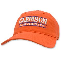 62c9aa1c801  Clemson  Tigers  Adjustable  Hat  Orange