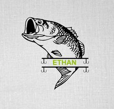 split bass svg bass fish design svg files for by OhThisDigitalFun