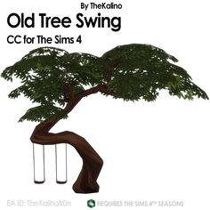 "kalino-thesims: "" Old Tree Swing! 🌳"
