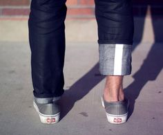Reflective cuff jeans by Rapha