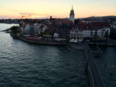 Friedrichshafen sunset seaport