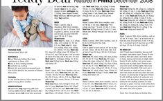 Knitting Bear, Knitted Teddy Bear, Crochet Teddy, Teddy Bears, Barbie Knitting Patterns, Knit Patterns, Sl 1, Boy Blankets, Slip Over