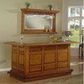 Whitaker Furniture Manchester Burnished Oak Bar Mirror Set | Overstock.com Shopping - The Best Deals on Bars