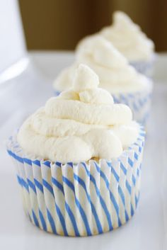 Angel Food Cupcakes- this is good with a strawberry on top or inside before you put frosting on.