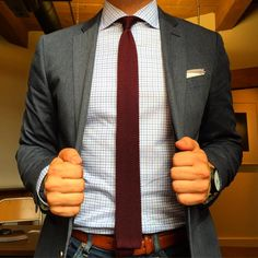 """""""Red red wine. Shirt: @twillory Tie, Pocket Square: @thetiebar Jacket: @jcrew"""""""