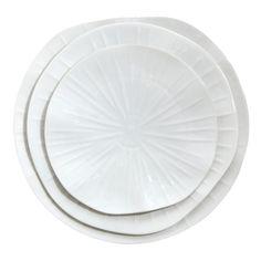 Jacques Pergay Lotus Porcelain White Dining Plate