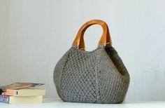 Knitting Tote women fashion Fall tones Knit tote purse di NzLbags, $85.00