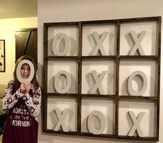 Tic tac toe wall art - Game Room - Pictures on Wall ideas Family Pictures On Wall, Room Pictures, Man Cave Wall Art, Diy Wall Art, Game Room Decor, Room Wall Decor, Room Art, Tic Tac Toe, Game Room Basement