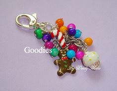 Goodies Candy Cupcake Pearl Keychain by MailleManz on Etsy, $22.00