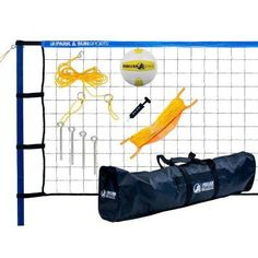 Park & Sun Spiker Sport Steel Volleyball Set Blue - S-SPORT-STL-BL