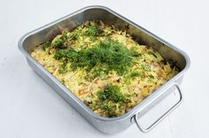 Nopea lohilaatikko Easy Cooking, Broccoli, Mashed Potatoes, Macaroni And Cheese, Food And Drink, Fish, Vegetables, Ethnic Recipes, Anna