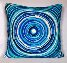 Katran Cushion : Blue (with filler) Cushion
