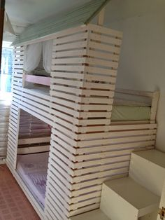 Thea Caldwell - Creating a better place every day: Doll House bed - Handmade by Thea Caldwell on the base of IKEA Mydal bunk bed.