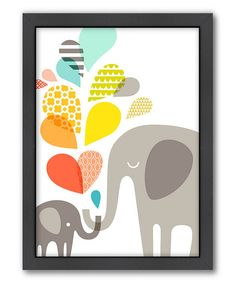 This is adorable. :: Elephants Wall Art