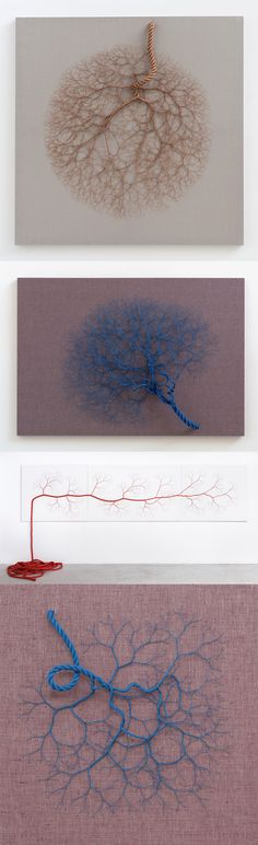 Unbraided Rope Installations Branch Like Roots and Nervous Systems