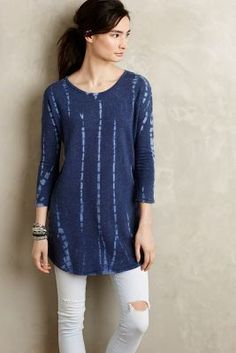 t.la Dashed Terry Tunic #anthrofave