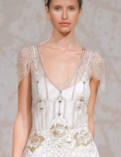 Jenny Packham Bridal Gown- Eden. I like the sheer beaded fabric over a slip