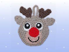 weihnachtlicher adventskalender beutel rentier häkeln