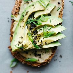 Avocado toast with miso tahini and black sesame. Lunch is served!