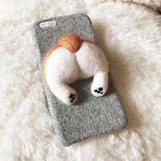 iPhoneケース・カバー / フェルト、羊毛|ハンドメイド、手作り通販 ... 受注制作* iphone7/6 iphone7plus6plus スマホケース 羊毛フェルト コーギー 犬 おしり