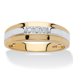 He'll love the style of this band with it's classic, masculine appeal. Sparked with diamond accents, this men's ring has-aKC6kniJ