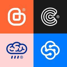 #flat #logo #design# #logodesign #mark #forge #markforge #beming #b #app #c #complete #brain #cloud #rainy #ss #monogram
