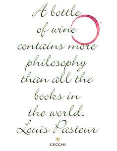Louis Pasteur Wine Quote