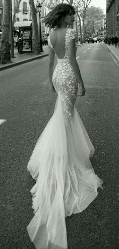 stunning backless mermaid wedding dress with cap sleeves