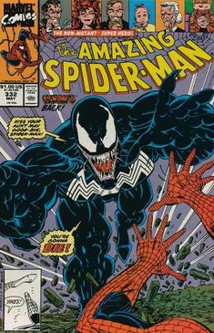 The Amazing Spider-man - Marvel - The Non-mutant Super Hero - Venom - 332 May - Erik Larsen