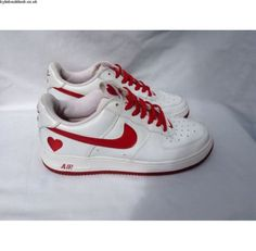 Buy Ladies Nike Air Force 1 Low Valentines Love Heart 307109-161 - Size UK