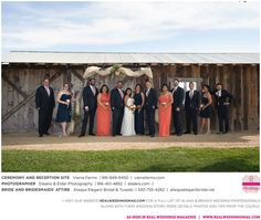 """What was the """"deal sealer"""" for Brian in his relationship with Alana? Find out, read their love story, see their photos and meet their entire wedding vendor dream team on www.realweddingsmag.com NOW!  {Photos by Eleakis and Elder Photography, at Vierra Farms, bride and bridesmaids' attire from Always Elegant Bridal and Tuxedo}  #FeaturedRealWedding #SacramentoWeddings #RealWeddingsMag #RealWeddingsSac"""