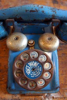 Vintage Tin Toy Telephone