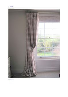 Beautiful Super Grande Rose Breton with Faded Rose Birds by Peony and Sage Fabrics. Handmade curtains by Rooms With a View.