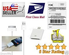 New 8 Pin to 30 Pin Adapter +USB Data Cable For Iphone 5 Ipod Touch 5th Nano 7  Look what I found on @eBay! http://r.ebay.com/nkzHxc #ebay