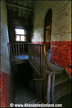 """Inside a workhouse, Ireland - this looks grim even now, it must have echoed to the sound of the """"workhouse howl""""."""
