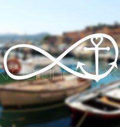 More - Plot file infinity anchor - a designer piece from circular . - – Plot file infinity anchor – a unique product bykreisrundpunkt on DaWanda - Tattoo Set, Diy Tattoo, Baby Tattoos, Tatoos, Plotter Silhouette Cameo, Anker Tattoo Frau, Infinity Anchor, Faith Hope Love Tattoo, Anchor Tattoos