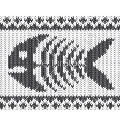 Pletený vzor s rybí kostry vektoru