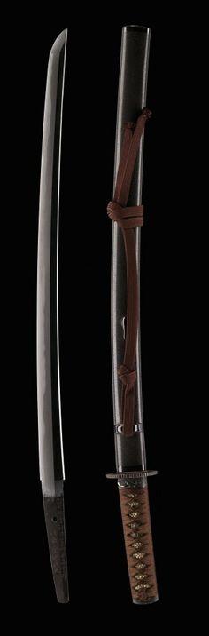 Wakizashi sword by Kaga no Kuni Takahira, 1677, Japan