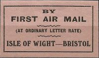 International Airmail And Priority Mail Labels: UK: R.A.S airmail labels 2