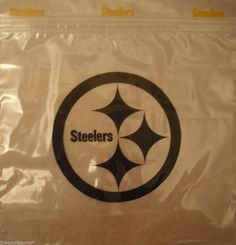 Pittsburgh Steelers Sandwich Bags #PittsburghSteelers Visit our website for more: www.thesportszoneri.com