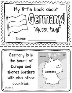 Germany Booklet (a country study!)-- Use during social studies units about countries around the world! TeachersPayTeachers