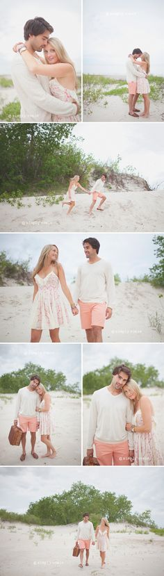 Love pastels for the beach! White and peach-- a great example of how to match without overdoing it!    Photos by simply rosie.